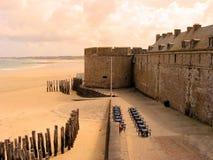 fästningsolnedgång Royaltyfria Foton