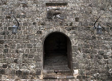 fästningvägg royaltyfri fotografi