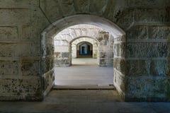 Fästningväggar och passager Royaltyfria Bilder