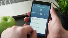 Få betalning på den packa ihop appen stock video
