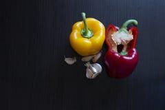 få grönsaker på trä Arkivbilder
