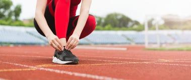 Få klart för det jogga begreppet, kopieringsutrymme royaltyfri fotografi