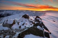 Få minuter för soluppgång från Chabenec Royaltyfria Bilder