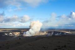 Få utbrott för Kilauea vulkan arkivbild