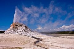 få utbrott geyser Arkivbild