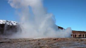 få utbrott geyserstrokkur arkivfilmer