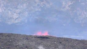 Få utbrott lava i Hawaii lager videofilmer
