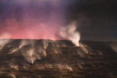 få utbrott vulkan Arkivbild
