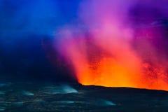 få utbrott vulkan arkivfoto
