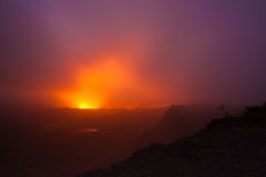få utbrott vulkan arkivbilder