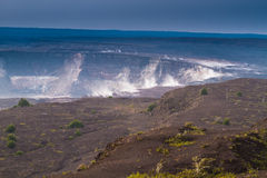 få utbrott vulkan royaltyfri foto