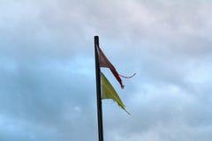 Fåfänga flaggor Arkivbild