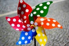 Fåfängt för Colorfull vind arkivfoto