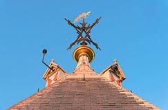 Fåfängt för väder av helgonet Maarten överst Domtorenen, Utrecht Royaltyfria Bilder