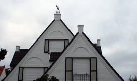Fåfängt för väder upptill av en villa arkivfoto