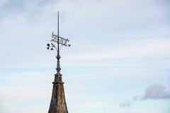 Fåfängt på ett torn i den gamla staden Tallinn Royaltyfri Bild