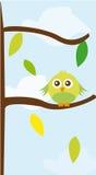 fågel över tree Arkivfoto