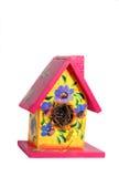 fågel dekorerat hus royaltyfri fotografi