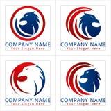 Fågel Eagle Logo Fotografering för Bildbyråer