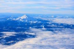 Fågel Eye beskådar av Mt.-huven i Oregon, USA. Fotografering för Bildbyråer