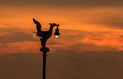 Fågel-formad lampa Royaltyfria Bilder