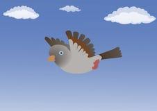 Fågel i den blåa himlen Royaltyfri Fotografi