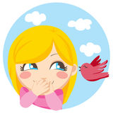 fågel little som jag berättade stock illustrationer