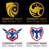 Fågel Logo Patriotic Concept Arkivfoto
