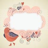 Fågel och blommor stock illustrationer