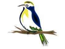 Fågel på filialen Arkivbilder