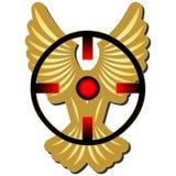 Fågel på pistolhotet Royaltyfri Bild