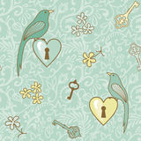 Fågel-tangenter-patern Royaltyfri Bild