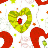 fågelblommahjärtor vektor illustrationer