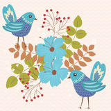 fågelblue två stock illustrationer