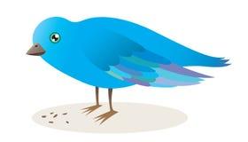 fågelbluen kärnar ur stock illustrationer
