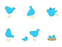 fågelbluesymboler Royaltyfri Bild