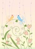 fågeleps-meet stock illustrationer