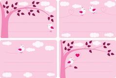 fågeletiketter little stock illustrationer