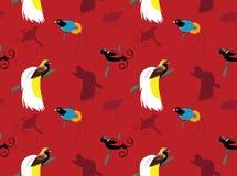 Fågelfågel-av-paradis tapet Arkivbild