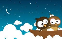 fågelfartyg royaltyfri illustrationer
