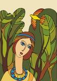 fågelflicka Royaltyfri Fotografi