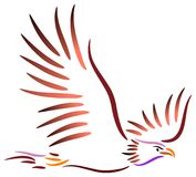 fågelflyg stock illustrationer