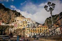 1 fågelflyg s Amalfi Campania italy arkivfoto
