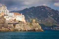 1 fågelflyg s Amalfi Campania italy royaltyfria foton