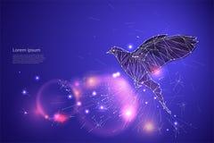 Fågelflyget med rörelse och effekt linje prickdesign vektor Royaltyfri Fotografi