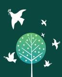 fågelfred stock illustrationer