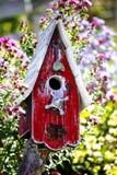 fågelhus Arkivfoto