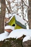 fågelhussnow Royaltyfri Fotografi