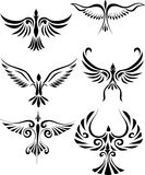 fågelillustrationtatuering Royaltyfri Fotografi