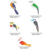 Fågellogo stock illustrationer